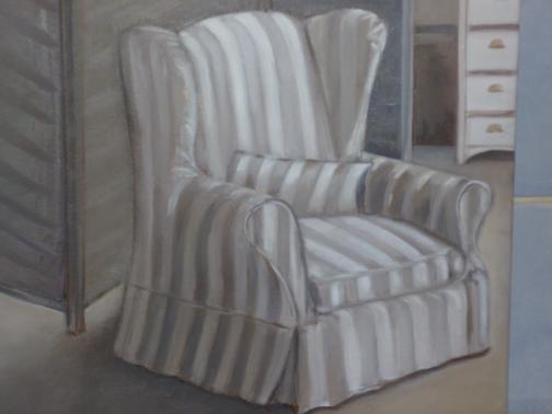 fauteuil rayé